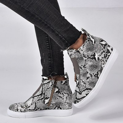 Wedges Winter Boot Women Ankle Boots Shoes Woman Sneakers
