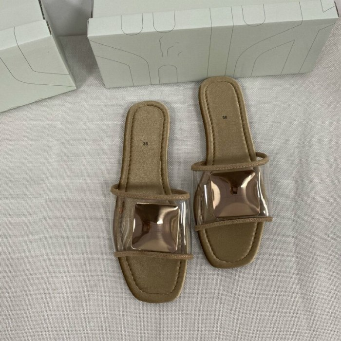 Fashion Slides Summer Beach Shoes Flat with Casual Female Slippers