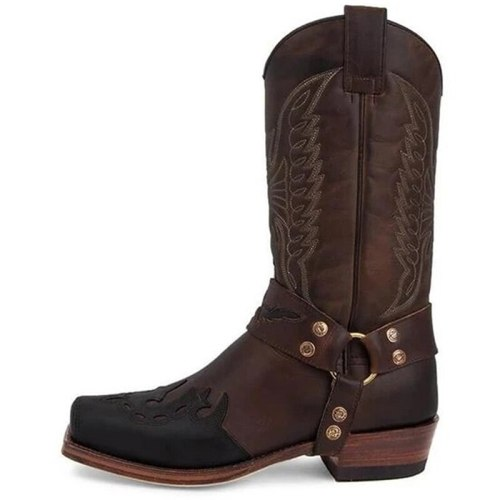 Retro Boots Waterproof Mid Calf Female Fashion Boots