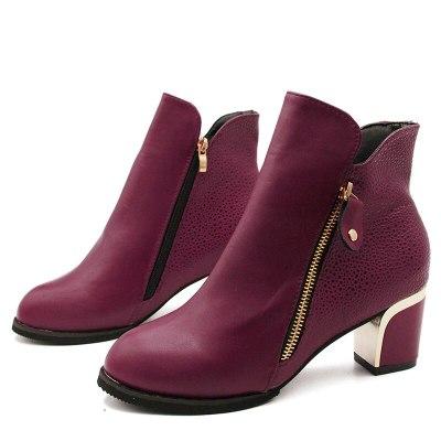 Female High Heel Zipper Women's Boots Martin Boots