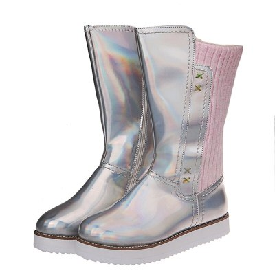Women Warm Snow Boots Winter Flats Round Toe Casual Female Boots