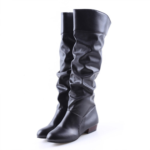 Fashion Women Winter Leather Shoes Classic Knee High Boots