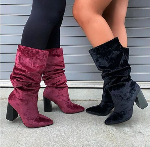 High Heels Shoes Woman Warm Fashion Leather Knight Shoe Knee High Boots