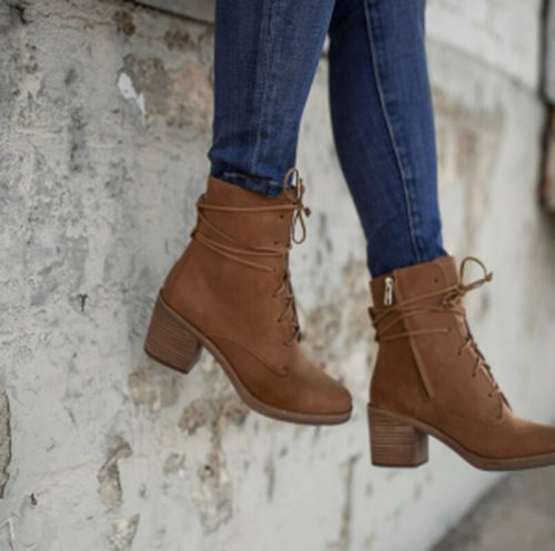 Ankle Boots Mid Heels Matin Boot Shoes
