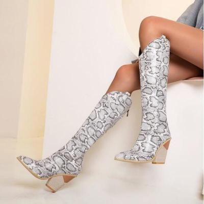 Women Knee High Boots High Heels Vintage Shoes Plus Size Gladiator Booties