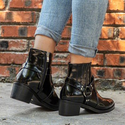 Women Ankle Boots PU Leather Shoes