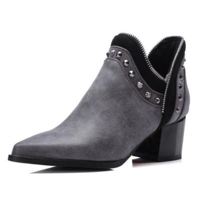 Women Ankle Boots High Heels Pumps Shoes Short Booties Pointed Toe