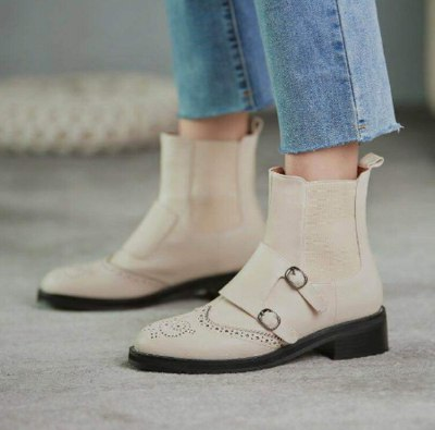 Ankle Boots Flat Matin Shoes Woman Booties