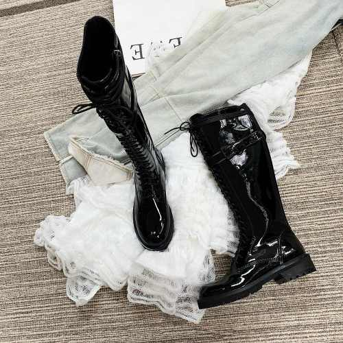 Women's Fashion Leather Boots Large Size To Keep Warm Martin Boots