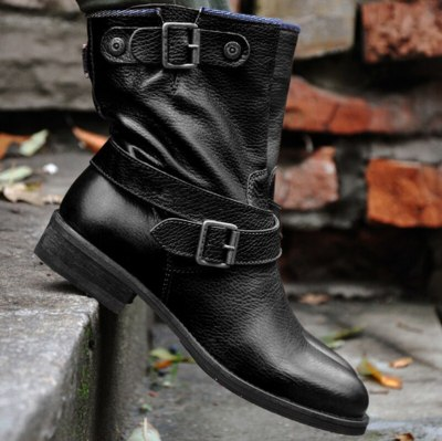 Women Ankle Boots Low Heels Matin Shoes