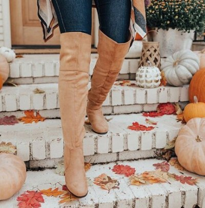 Mid High Heels Shoes Warm Leather Knight Shoe Women Knee High Boots