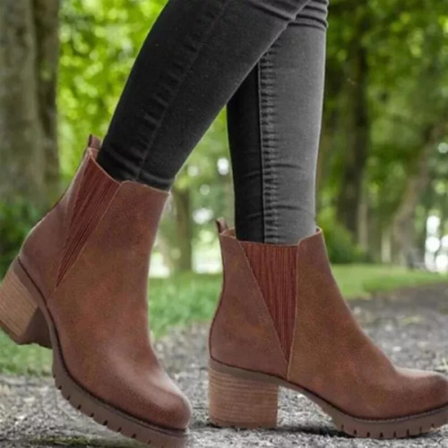 Woman Booties Autumn Matin Shoe Ankle Boots Flat