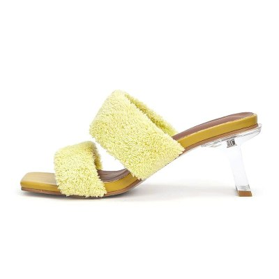 Women Pumps Sexy Mid Heels Shoes Woman Sexy Party Sandals Slippers Slides Female
