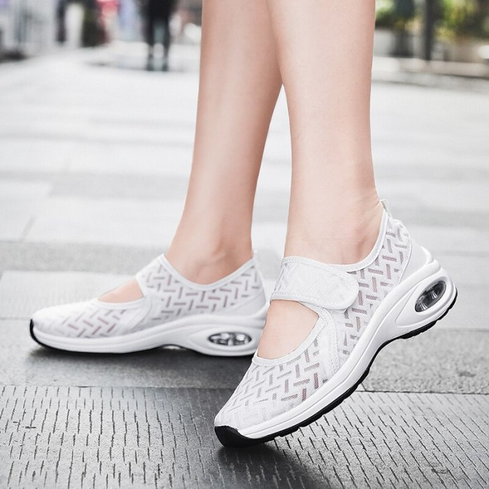 Women Summer Pumps Chunky Low Heels Sneakers Comfortable Shoes