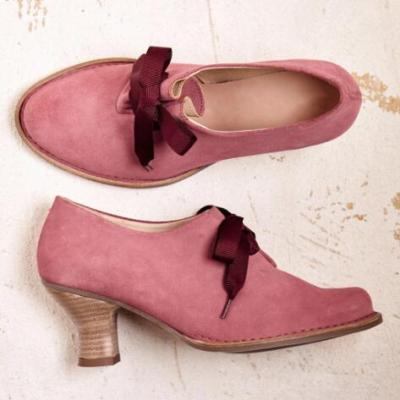 Women Summer Pumps Chunky Mid Heels PU Leather Office Ladies Pointed Toe