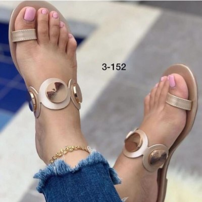 PU Leather Sexy Summer Slipper Sandals Women Pumps Chunky Flat Party Shoes