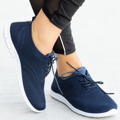Women Flats Casual Shoes Plus Size Sneakers Sports Shoe Lace Up