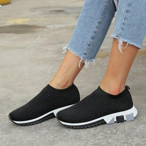 Women Flats Casual Shoes Woman Flat Slip On Plus Size Loafers Shoe