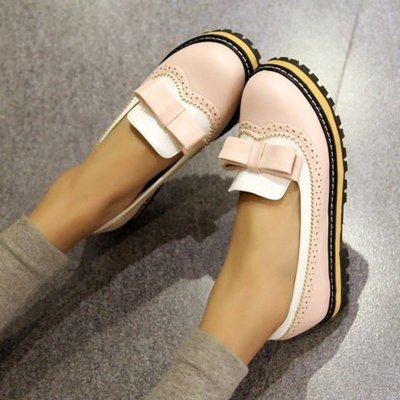 Women Flats Casual Shoes Flat Plus Size Slip On PU Leather
