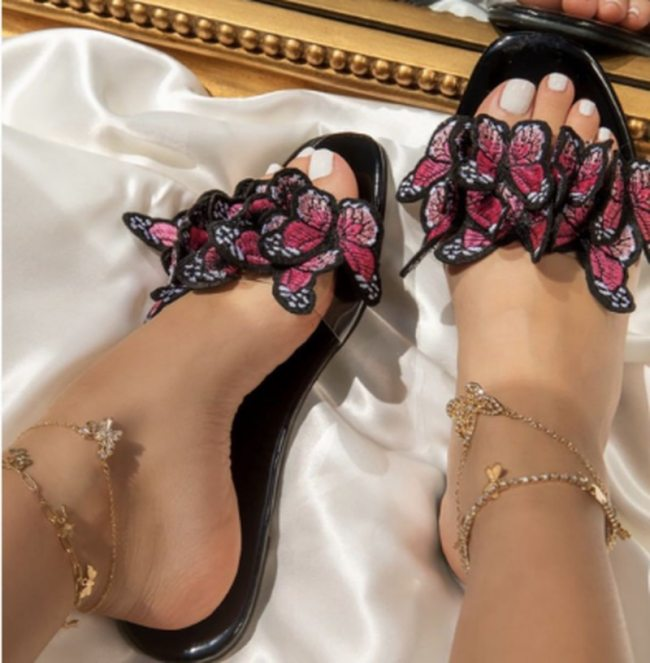 Women Pumps Flat PU Leather Sexy Summer Slipper Sandals Party Shoes