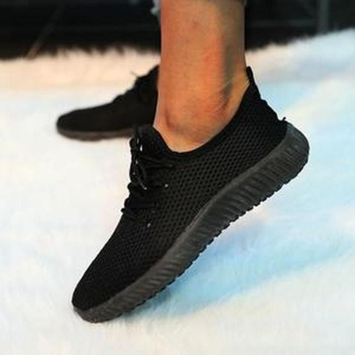 Women Flats Casual Lace Up Sneakers Sports Running Shoes
