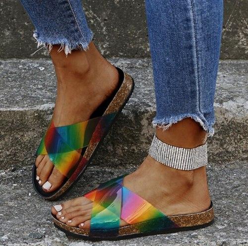 Slippers Slides Plus Size Shoe Women Flats Casual Shoes Light Woman