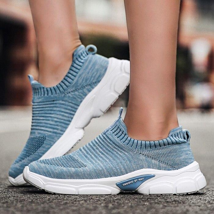 Women Flats Shoes Slip On Plus Size Sports Sneakers