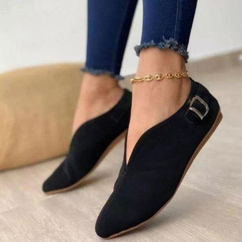 Women Flats Casual Shoes Plus Size Suede Flats Vintage Loafer Short Boots