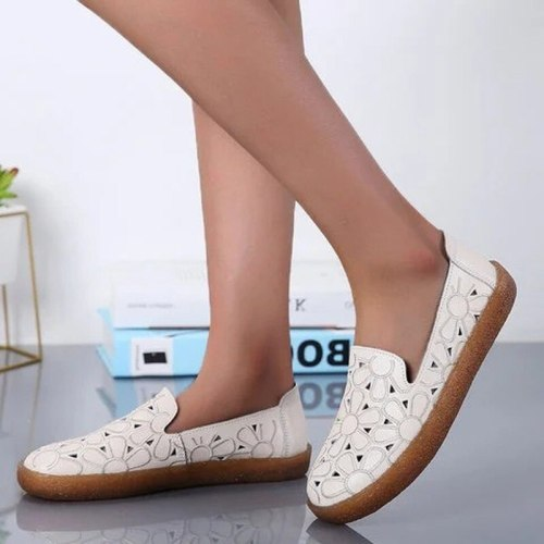 Women Flats Casual Shoes Flat Shoe Slip On PU Leather Sandals Loafers