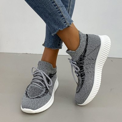 Women Flats Casual Shoes Sneakers Flat Lace Up Running Shoe