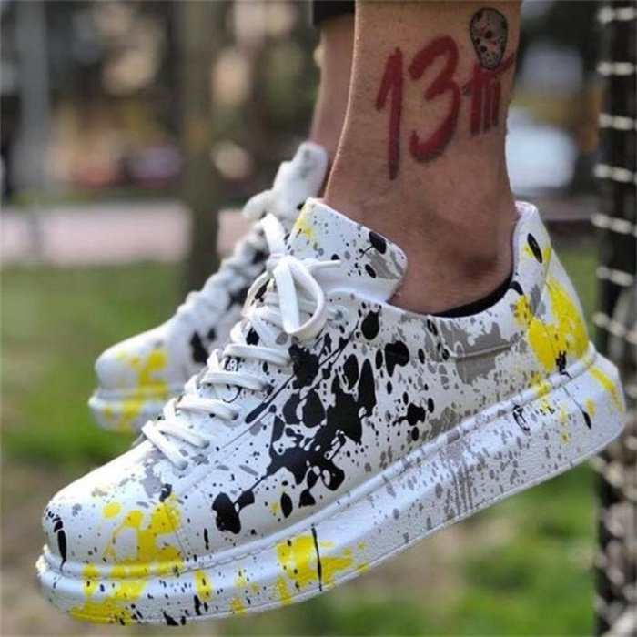 Women Flats Casual Shoes Plus Size Lace Up Sports Running Sneaker