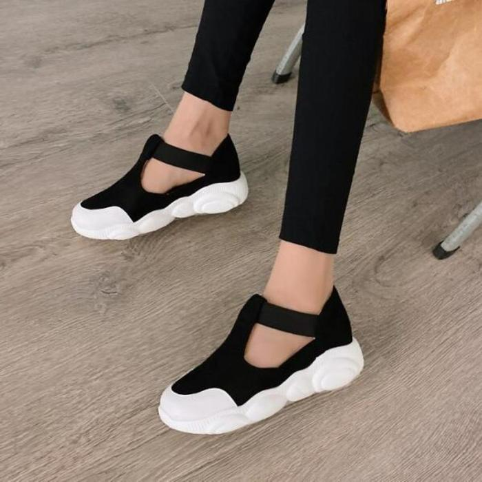 Women Flats Casual Shoes Woman Plus Size Sneakers Sports Running Flat Slip On Shoe