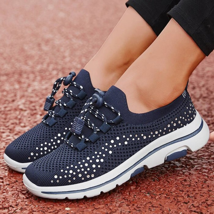 Women Flats Shoes Woman Plus Size Breathable Sneakers Running
