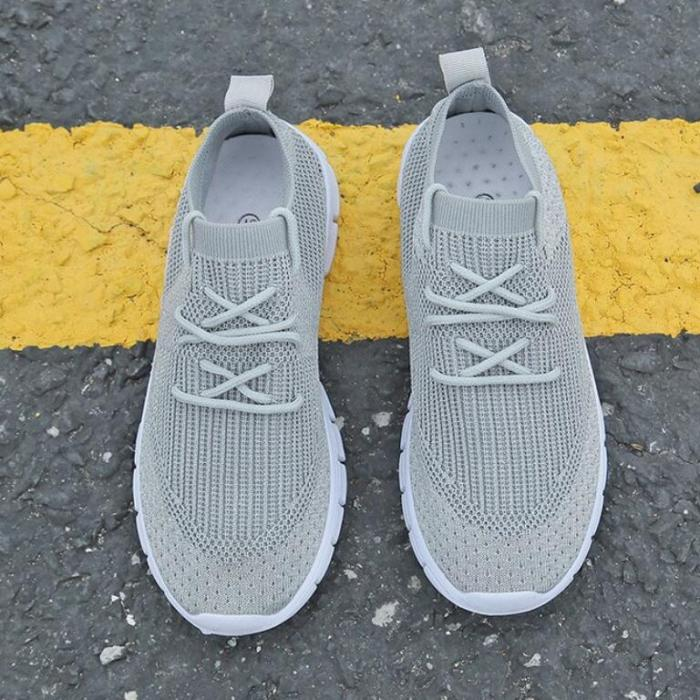 Women Flats Casual Shoes Flat Lace Up Soft Shoe Sneakers
