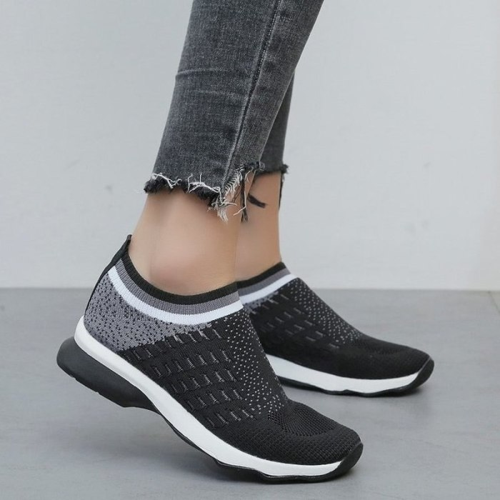 Women Flats Casual Shoes Woman Plus Size Sneakers Sports Slip On