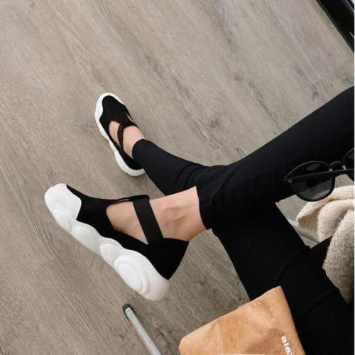 Women Flats Casual Shoes Woman Plus Size Sneakers Sports Running Flat Slip On Shoe