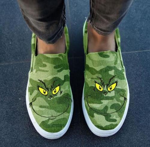 Women Flats Canvas Cute Shoes Woman Plus Size Loafers