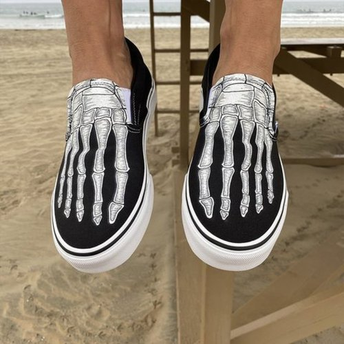 Women Flats Shoes Plus Size Canvas Fabric Flat Casual Loafers Halloween Shoe