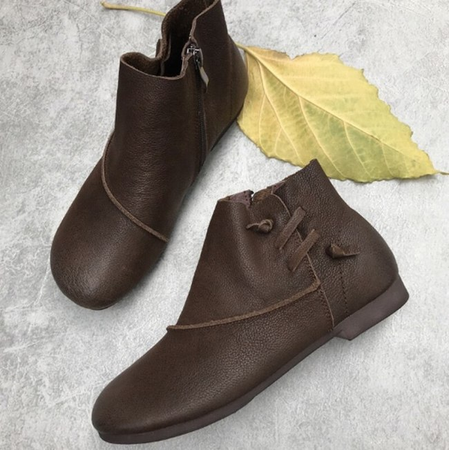 Vintage Shoe Women Flats Soft Shoes Woman Plus Size Light Matin Loafers