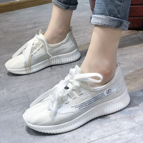 Women Flats Shoes Woman Light Plus Size Sneakers