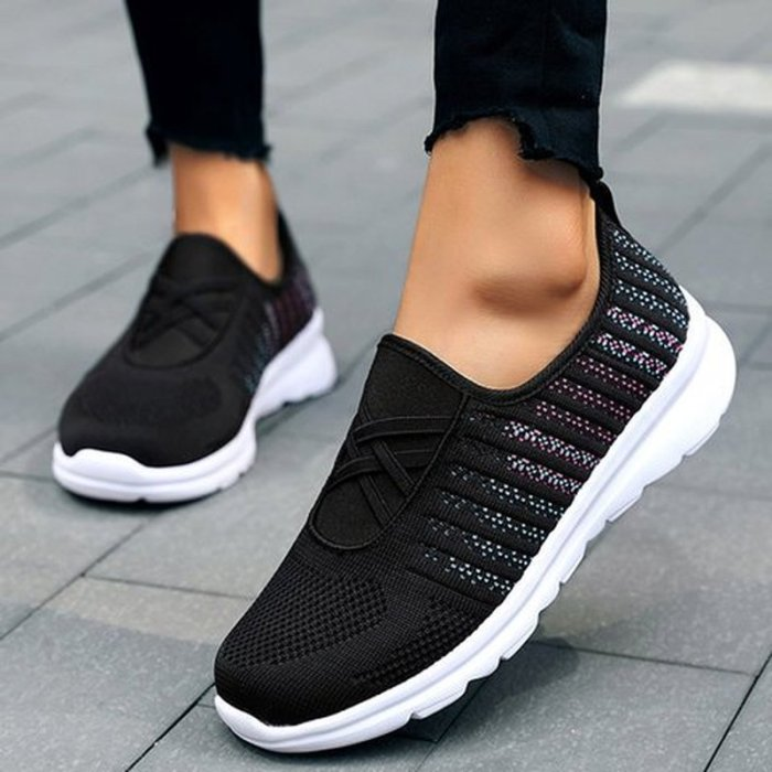 Women Flats Casual Plus Size Shoes Slip On Sneakers