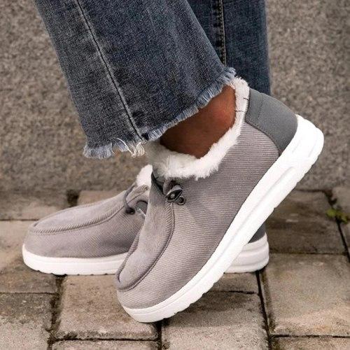 Women Flats Casual Shoes Plus Size Flats Short Boots Winter Snow Warm