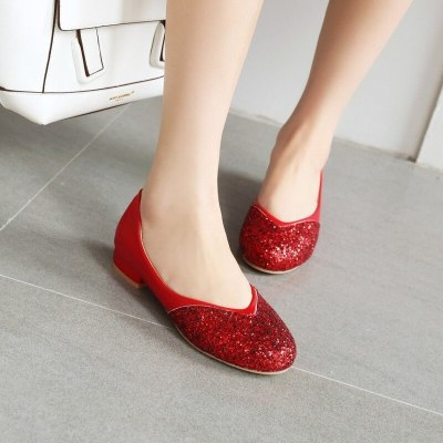 Women Flats Loafers Shoes Woman Slip On Plus Size Shoe PU Leather