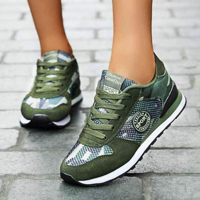 Women Flats Shoes Woman Plus Size Sneakers Running