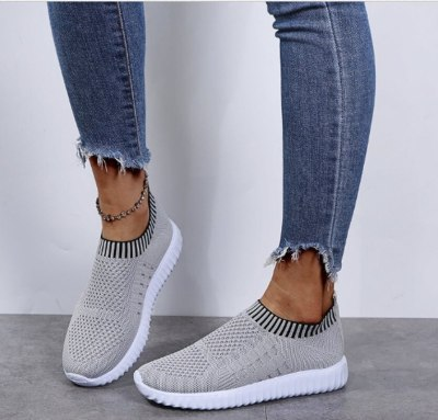 Hiking Loafers Flats Soft Shoes Woman Plus Size Vintage Shoe