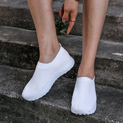 Women Flats Shoes Woman Light Plus Size Sneakers Soft Loafers