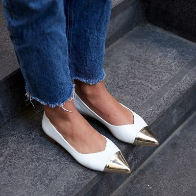 Women Flats Shoes PU Leather Plus Size Pointed Toe Gladiator Loafer