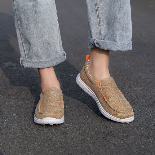 Women Flats Shoes Woman Flat Slip On Casual Canvas Plus Size Loafers
