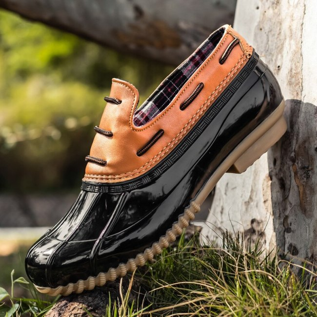 Women Flats Rain Shoes Woman Plus Size Vintage Flat Casual