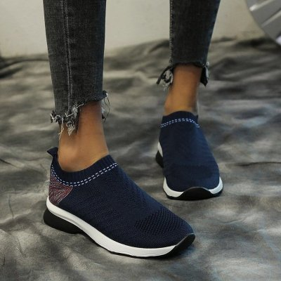 Women Flats Shoes Woman Sneakers Plus Size Breathable Sports
